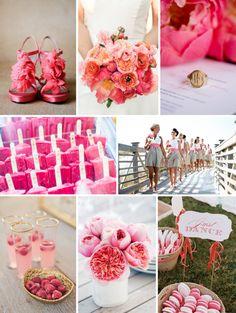 inspiration for a raspberry lemonade summer wedding!