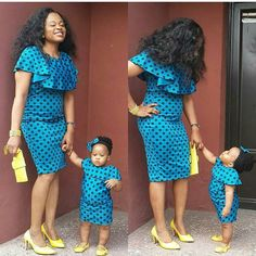Beautiful Ankara Styles For Mother And Daughter Stylish mother and daughter matching ankara styles, beautiful ankara gown styles for mother and daughter Ankara Styles For Kids, African Dresses For Kids, Trendy Ankara Styles, Ankara Gown Styles, African Kids, Dress Styles, African Fashion Ankara, African Print Fashion, African Wear