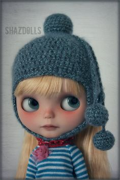 Sparkle Dark Sea Helmet for Blythe Doll
