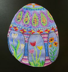 Paragraph Idea: I Like Easter Because... and possible Easter art idea - pretty and easy!