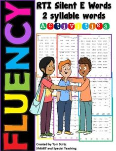 If your students are beginning or struggling readers one of the keys to fluency is to increase their automaticity. Automaticity is the fast, effortless word recognition that comes with a great deal of reading practice. These activity sheets are a fast way to encourage students to practice. These she... Reading Practice, Teaching Reading, Dyslexia Activities, E Words, Struggling Readers, Syllable, Student Reading, Activity Sheets, Teacher Newsletter