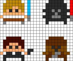 Star Wars Perler Bead Pattern / Bead Sprite
