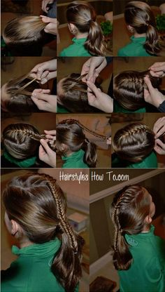 French Fishtail Accent Ponytail Tutorial