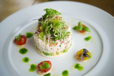 Delicate yet vibrant crab and lobster salad
