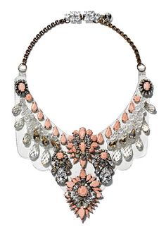 Get your bib on with the bejeweled Shourouk Cora pearl necklace.