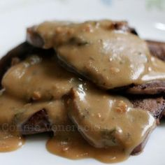 If you prefer the ox tongue dish with mushroom sauce, you can click here. Personally, I am so tired of that recipe and that's the reason I started experimenting. I was aiming for something not too different from the one with mushroom sauce because that's the favorite of my daughter, Sam. I sliced a cooked …