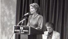 Phyllis Schlafly speaking at the University of Nebraska Omaha