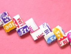 I remember Heather made gum wrapper chains with Fruit Stripe gum at band camp and on bus trips ;)