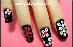some girly, floral, nail designs I came up with to share with you guys hope you like it . Also Check Splatter Party Nail Art Tutorial Flower Nail Designs, Flower Nail Art, Nail Art Designs, Nail Art Photos, Party Nails, Nail Tips, Red Flowers, Lovers Art, Girly
