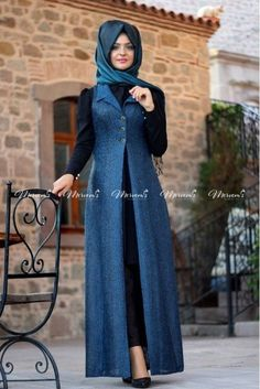 Many more like this can be found at the website! Give it a look for what we pick best for each Modern Hijab Fashion, Muslim Women Fashion, Abaya Fashion, Fashion Dresses, Bridal Hijab Styles, Hijab Jeans, Hijab Style Tutorial, Casual Hijab Outfit, Muslim Dress