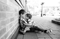 Brotherly love, family portraits