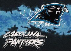 Carolina Panthers Rug NFL Team Fade