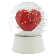 3) Shaken, Not Stirred -heart snow globe