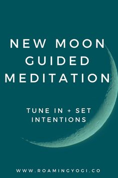 The new moon is a time to go inward. A time of introspection. A time to rest, reflect, and plant metaphorical seeds. To set new intentions, start new projects and begin to cultivate new positive habits. In this meditation we'll inquire deeply to focus on Meditation Mantra, Meditation Practices, Mindfulness Meditation, Guided Meditation, Seated Yoga Poses, Kripalu Yoga, How To Start Yoga, Yoga Block, Yoga At Home