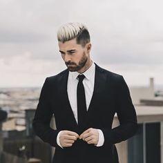 Este senhor bem vestido e com dois tons. | 27 barbudos com undercut que provam que essa combinação arrasa