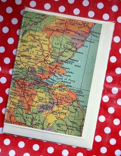 South East Scotland Map Greetings card2, via Flickr.