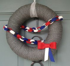 Cute 4th of July wreath, love this!