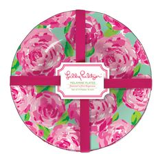 Melamine Plate Set in First Impressions by Lilly Pulitzer #preppy