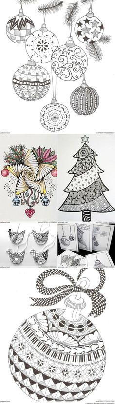 Zentangle Ornaments!