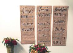Designer Creates Hand-Lettered Chalkboard Menus In Exchange For Lunch - DesignTAXI.com