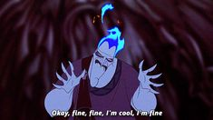 """Try to be a bit more calm about everything. 
