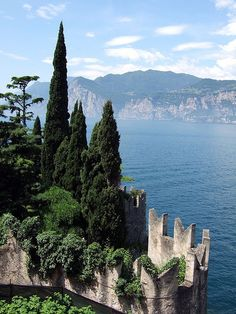 Malcesine, on the eastern shore of Lake Garda in the Province of Verona, Italy Places Around The World, Travel Around The World, Dream Vacations, Vacation Spots, Places To Travel, Places To See, Wonderful Places, Beautiful Places, Lake Garda Italy