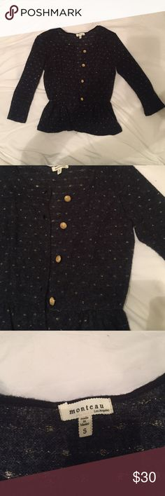 Cardigan dark grey and gold buttons Never worn from franchescas Francesca's Collections Sweaters Cardigans