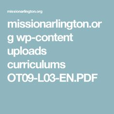missionarlington.org wp-content uploads curriculums OT09-L03-EN.PDF Cain And Abel, Adam And Eve, Curriculum, Pdf, Content, Spanish, Rome, Mary, King