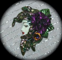 Beautiful Garden Nymph Brooch Fairy Mother Nature by StudioSisu, $18.00