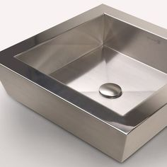 Square Vizza Vessel   Luxury Stainless Steel Sinks - Neo Metro