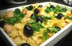 Bacalhau à Brás com camarão e alho francês | Receitas Rápidas, Fáceis & Saudáveis