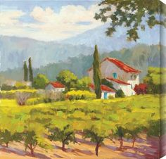 Karen Wilkerson - Glorious Estate I #winery #tuscany #art #landscape
