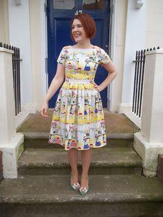 On Opposite Day dress - Christine Haynes Emery dress in Michael Miller 'Home Ec' fabric