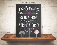 PRINTABLE PHOTOBOOTH Sign Printable Wedding Sign Chalkboard