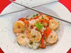 Flavorful Thai Shrimp with Coconut Rice.  Delicious! www.lorisculinarycreations.com