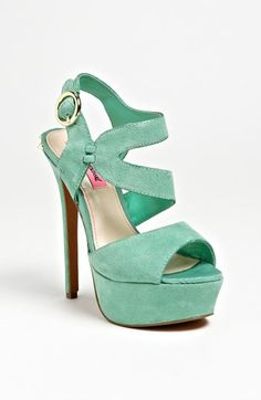 Betsey Johnson Sandals in Mint Green