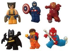 Lego Movie Fridge Magnets 6 Pcs Set 1 * Read more reviews of the product by visiting the link on the image.