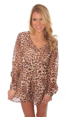 afe5bd0483cc wild woman romper – leopard Anything animal print is always a good idea.