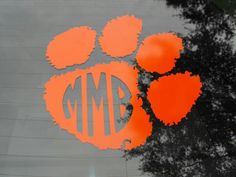 Personalized Clemson paw car decal with your initials!!! 11.5 in. by 11.5 in. Perfect for that tiger fan in your life!!! $10  Message me if interested.