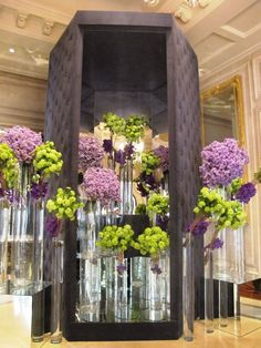 flowers in the lobby of the Four Seasons Hotel Paris