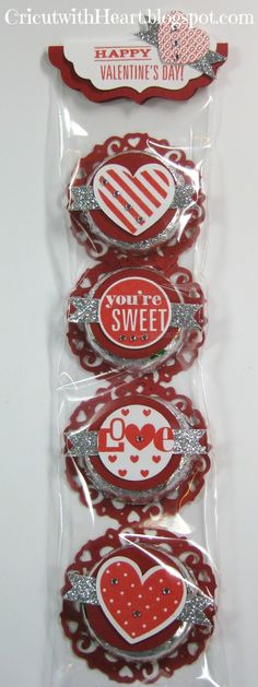 Valentine Peppermint Patties using Cricut Artiste and Whooo's Your Valentine