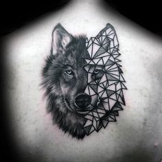 90 Geometric Wolf Tattoo Designs For Men - Manly Ink Ideas More