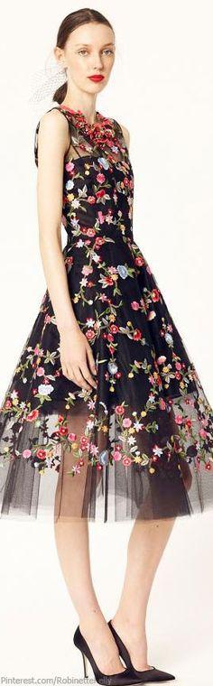 Oscar de la Renta | Resort 2014 floral gown