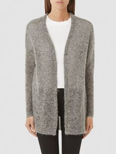SOFT - KNITTED CARDIGAN, Medium Grey Melange