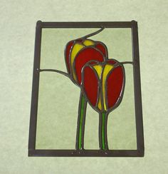 Stained Glass Tulips Panel via Etsy