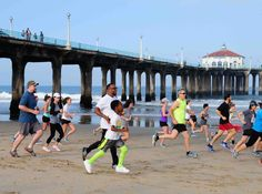 Manhattan Beach run on the sand (timed to coincide with Summer Solstice and ultra-low tides) via South Bay Confidential Manhattan Beach Pier, Summer Solstice, West Coast, Bring It On, Racing, Saturday Morning, Sparkle, Summer Solstace, Auto Racing
