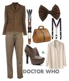 """Doctor Who"" by wearwhatyouwatch ❤ liked on Polyvore featuring Closed, Acne Studios, Ralph Lauren Black Label, Brooks Brothers, Mix No. 6, Miss Selfridge, Mischa Barton Handbags, mel, tweed and doctor who"