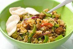 Vegetarische nasi goreng met komkommerzoetzuur en nog veel meer heerlijke veg. recepten