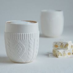 "these ""faux wool"" cups are the cutest."