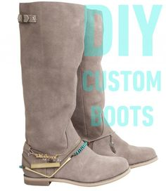 15 DIY BOOTS Suggestions